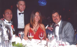 Congress of ISHRS, New York, USA, October 2003. From the left side: Dr Bessam K. Farjo (Great Britain), Dr Paul T. Rose (USA), Dr Melike Kulahci (Turkey), Dr Jerzy Kolasiński.