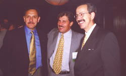 Congress of ISHRS, Chicago, USA, October 2002. From the left side: Dr David Perez-Meza (USA), Dr Jerzy Kolasiński, Dr Alfonso Barrera (USA).