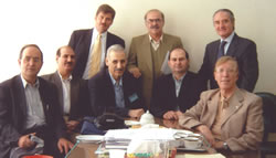 Congress in Tehran, Iran, October 2003. Dr Jerzy Kolasiński and profesors from The Tehran′s University.