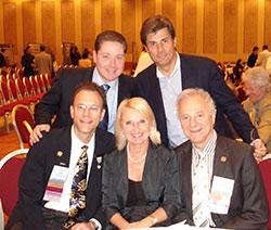 ISHRS Annual Meeting, Las Vegas 2007. Stoją od lewej: Dr James Vogel, Dr Jerzy Kolasiński, siedzą od lewej: Dr Robert Haber, Prof. Maria Siemionow, Dr Mario Marzola