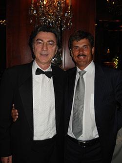 Dr Jerzy Kolasiński i Dr Vincenzo Gambino podczas kongresu Italian Society of Hair Restoration, Mediolan 2007
