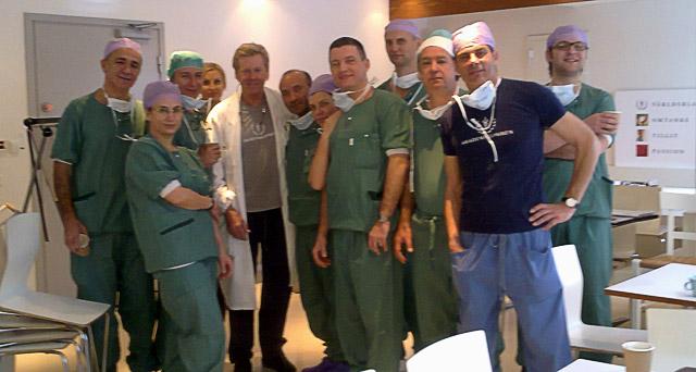 Uczestnicy Kursu Masters w Sztokholmie – w środku dr Per Heden, drugi z prawej dr Jerzy Kolasiński