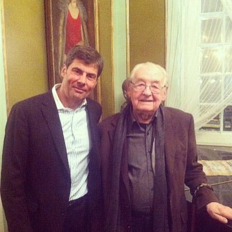 Dr Jerzy Kolasiński oraz Andrzej Wajda