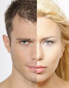 Różnice wolumetryczne twarzy kobiety i mężczyzny