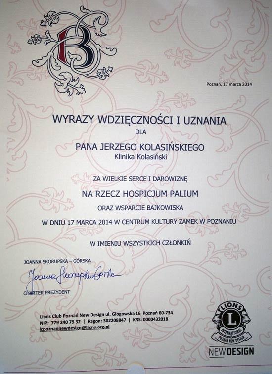 Doktor Jerzy Kolasiński wspiera dzieci
