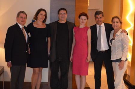 Organizatorzy spotkania, od lewej: dr Wojciech Zieliński, dr Małgorzata Kolenda, Dr Ronald Shapiro, Dr Paulina Kubasik, Dr Jerzy Kolasiński, trycholog Kinga Jach-Skrzypczak