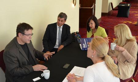 Dr Ronald Shapiro i dr Jerzy Kolasińscy spotkali się z przedstawicielami prasy