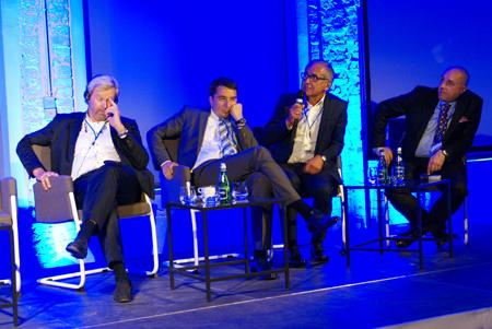 panel ekspertów, od lewej: prof.Per Heden, dr hab n.med.Dawid Murawa, dr n.med. Marek Budner, dr hab.n.med. Jerzy Jankau